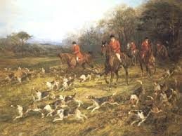 Fox Hunting Painting